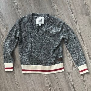 ROOTS Cabin Canada V Neck Sweater, XS
